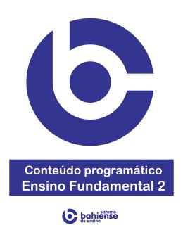 Conteúdo Programático – 9º Ano Ensino Fundamental