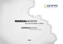 MINERALNEGÓCIOS - Departamento Nacional de Produção Mineral