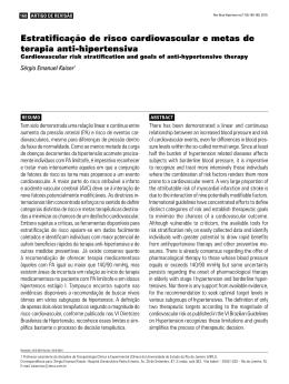 Estratificação de risco cardiovascular e metas de terapia anti
