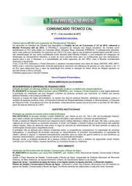 Nº 71 – 4 de novembro de 2015 CONGRESSO NACIONAL