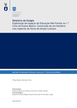 Relatório de Estágio ccapa - Repositório Científico do IPCB