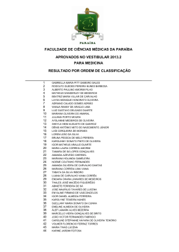 Resultado - Vestibular Medicina 2013.2