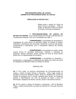 Resolução nº 4467/13 - Ministério Público do Paraná