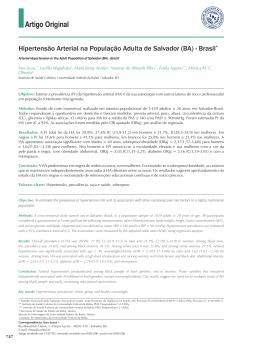 Hipertensão arterial na população adulta de Salvador - ELSA