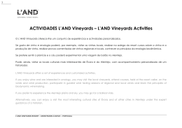 ACTIVIDADES L`AND Vineyards – L`AND Vineyards Activities