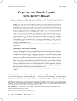 Cognition and chronic hypoxia in pulmonary diseases