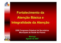 Fortalecimento Atenção Basica-Antonio Dercy Silveira