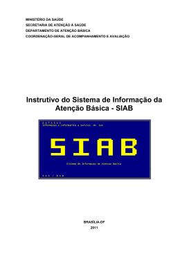 Instrutivo do Sistema de Informação da Atenção Básica