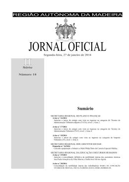 JORNAL OFICIAL - Governo Regional da Madeira