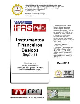 Instrumentos Financeiros Básicos