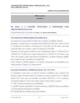 ANEXO A - IES - Informação Empresarial Simplificada