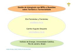 Gestão de Intangíveis nas MPEs e Questões sobre