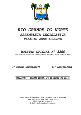 BO 3266 - Assembleia Legislativa do Rio Grande do Norte