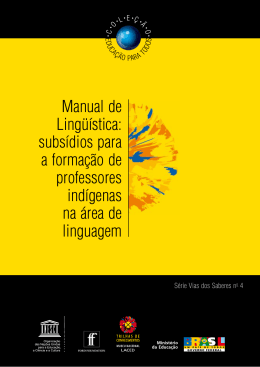 Manual de Lingüística - Ministério da Educação