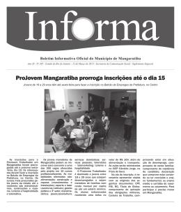ProJovem Mangaratiba prorroga inscrições até o dia 15