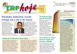 Parahyba Judiciária recebe artigos até o dia 3 de março