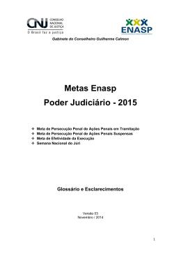 Metas Enasp Poder Judiciário - 2015