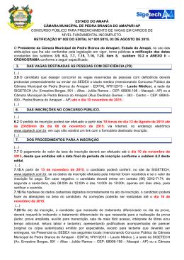 ESTADO DO AMAPÁ - Sigetech Concursos