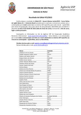Resultado do Edital 472/2015