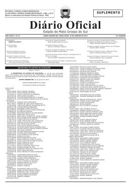 Diário oficial n. 8.117