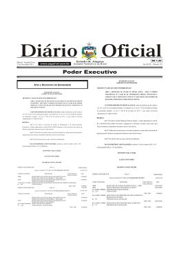 01 Poder Executivo - Diário Oficial do Estado de Alagoas
