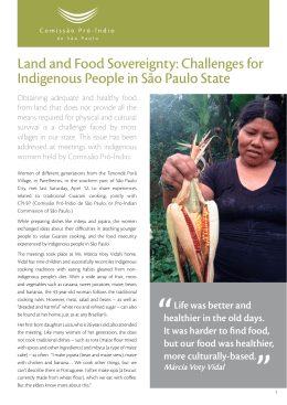 Land and Food Sovereignty: Challenges for Indigenous People in