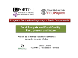 Food Analysis and Food Quality