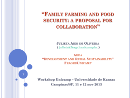 family farming and food security: a proposal for - NIPE