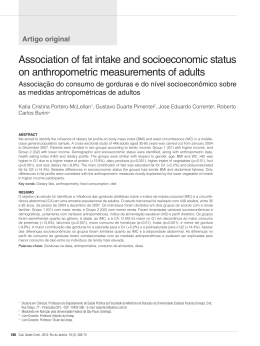 Association of fat intake and socioeconomic status on