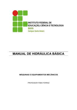Manual de Hidráulica Básica (IFBA)