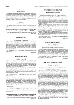 Aviso DR n.º 1771/2015 - Câmara Municipal de São João da Madeira