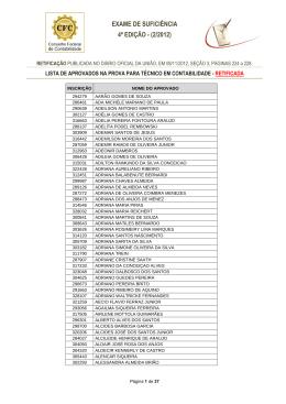 Técnico em Contabilidade (retificada) - CRC-CE