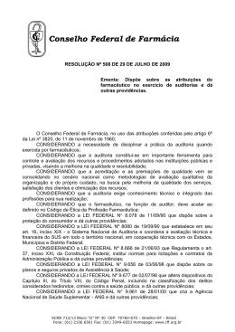 resolução nº 508 de 29 de julho de 2009