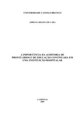 A IMPORTÂNCIA DA AUDITORIA DE PRONTUÁRIOS E