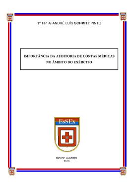 importância da auditoria de contas médicas no âmbito do exército