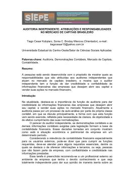 atribuições e responsabilidades no mercado de capitais brasileiro