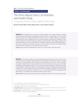 The Porto Alegre Early Life Nutrition and Health Study