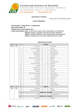 N° 182/2013 - Confederação Brasileira de Basketball #CBB