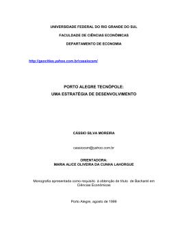 porto alegre tecnópole: uma estratégia de desenvolvimento