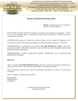 CONSIDERANDO, o requerimento da servidora Ana Júlia Miranda