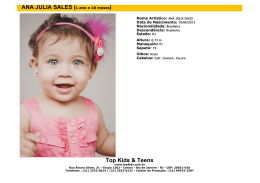 Top Kids & Teens ANA JULIA SALES (1 ano e 10 meses)