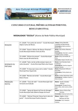 CONCURSO CULTURAL PRÊMIO ALTIMAR PIMENTEL