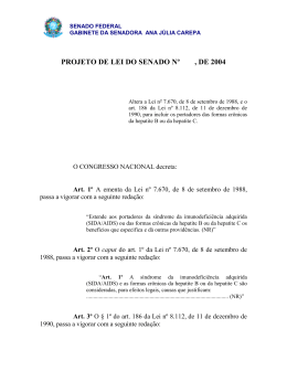 PROJETO DE LEI DO SENADO Nº , DE 2004