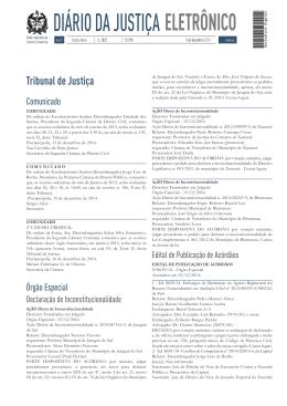 DIÁRIO DA JUSTIÇA - Tribunal de Justiça de Santa Catarina