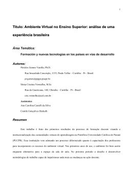 análise de uma experiência brasileira - e