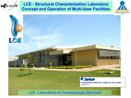 LCE - Structural Characterization Laboratory Concept and