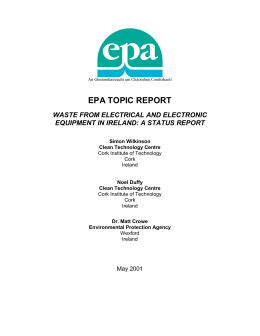EPA Study on WEEE in Ireland - Department of Environment and