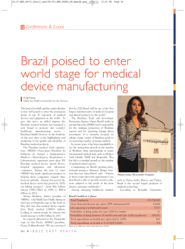 Brazil poised to enter world stage for medical device manufacturing