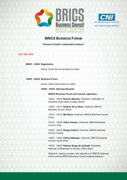 BRICS BUSINESS FORUM