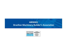 ABIMAQ Brazilian Machinery Builder`s Association